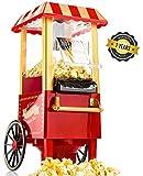 Gadgy Popcorn Machine - Retro Macchina Pop Corn Compatta, Aria Calda Senza Olio...