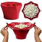 Benna del Popcorn in Silicone Contenitore Pieghevole del Popcorn Benna del Popcorn A...
