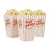Tebery 48 x Sacchetti di Popcorn - Bianco Rosso A Strisce - Popcorn Box bellissime...